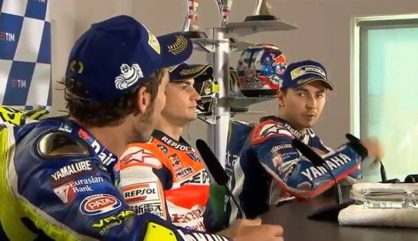 Battibecco Rossi-Lorenzo in conferenza stampa